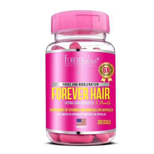 Forever Hair Crescimento Capilar Tratamento 30 Capsulas