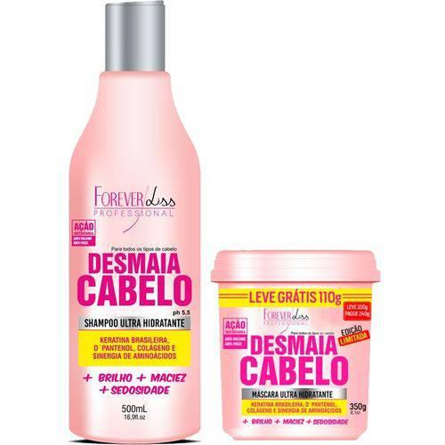 Forever Liss Desmaia Cabelo Kit Shampoo 500ml + Máscara 350g