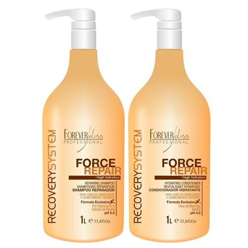 Forever Liss Force Repair - Kit Shampoo e Condicionador 1 Litro