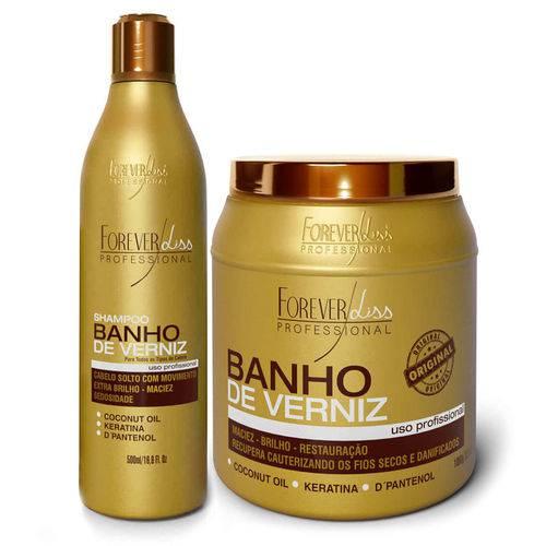 """""""forever Liss Kit Banho de Verniz Shampoo 500ml + Mascara 1kg Forever Liss Kit Banho de Verniz Shampoo 500ml + Mascara 1"""