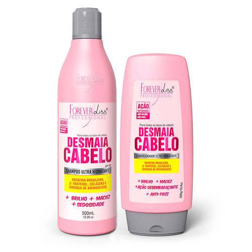 """forever Liss Kit Desmaia Cabelo Shampoo 500ml e Condicionador 300g Forever Liss Kit Desmaia Cabelo Shampoo 500ml e Cond"