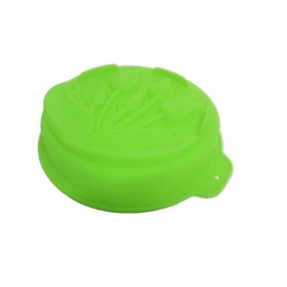 Forma de Bolo Silicone Botões Verde Basic Kitchen