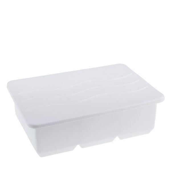 Forma de Gelo Weck Silicone Branco com Tampa 16X11CM - 31750