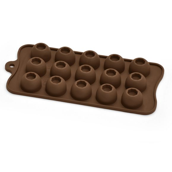 Forma de Silicone para Chocolate/Gelo Domo 15 Furos Dolce Chef Bialetti