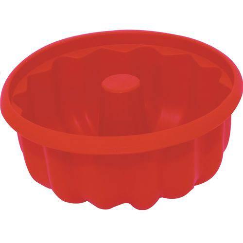 Forma de Silicone para Pudim 25cm - Vermelha