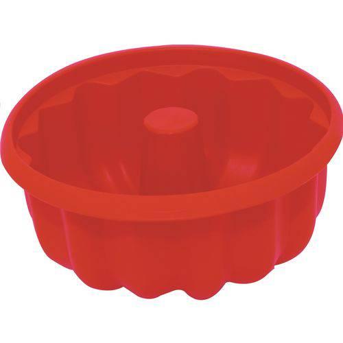 Forma para Pudim Silicone 21cm - Vermelha
