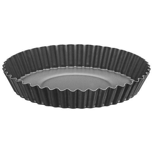 Forma para Torta e Bolo Alumínio 22 Cm Brasil Preta