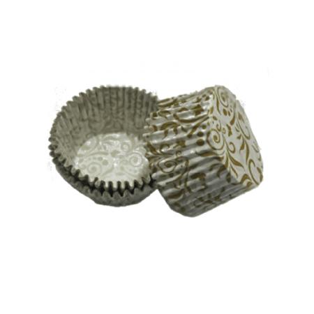 Forminha de Cupcake Arabesco Branco - 45 Unidades