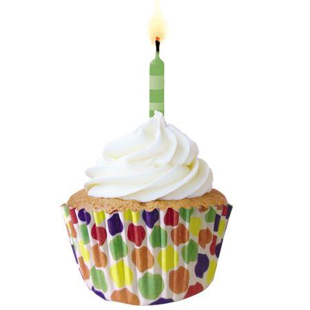 Forminha de Cupcake Bolas Coloridas - 45 Unidades