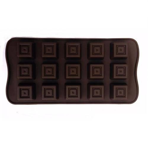 Forminha de Silicone para Chocolate - Quadrado