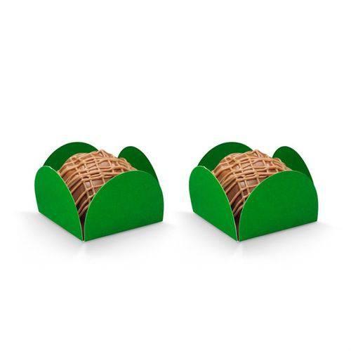Forminhas para Doces Quadradas Verde Bandeira 50 Unidades