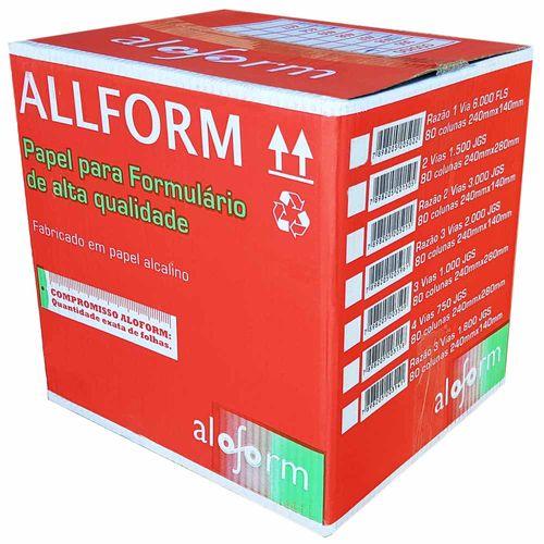 Formulário Contínuo 1 Via Razão Aloform 6000 Folhas 1025032