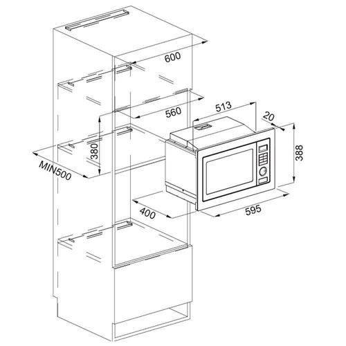 Forno Micro-ondas Smart Franke Cromada