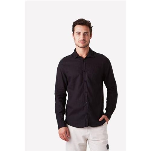 Foxton | Camisa Ml Bicolor Mergulho Preto - M