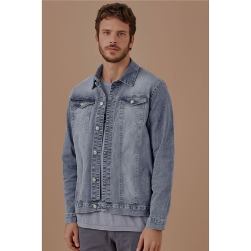 Foxton   Jaqueta Jeans Rock Azul - P