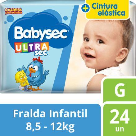 Fralda Babysec Galinha Pintadinha G 24 Unidades