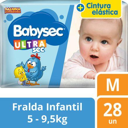 Fralda Babysec Galinha Pintadinha Ultra Jumbo M 28 Unidades