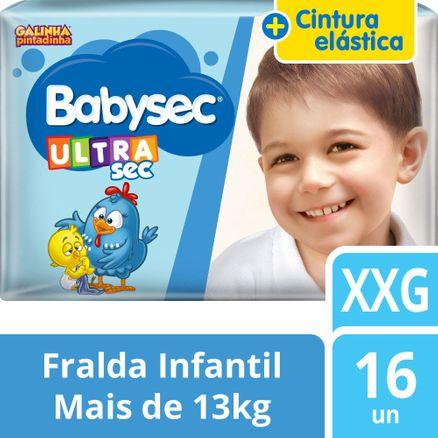 Fralda Babysec Galinha Pintadinha Ultrasec Jumbo XXG 16 Unidades