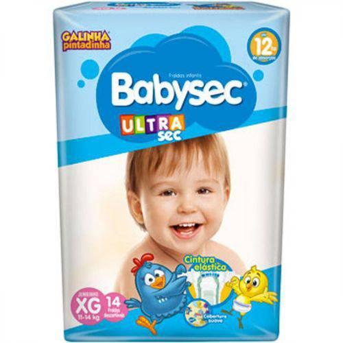 Fralda Babysec Ultra Sec Xg com 14 Unidades