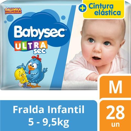 Fralda Babysec Ultrasec Tamanho M Pacote Jumbo 28 Fraldas Descartáveis