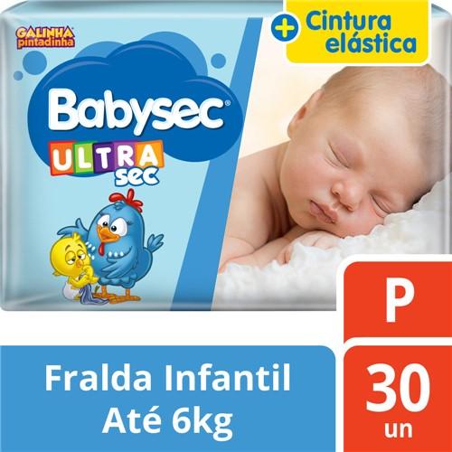 Fralda Babysec Ultrasec Tamanho P Pacote Jumbo 30 Fraldas Descartáveis