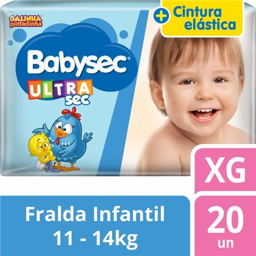 Fralda Babysec Ultrasec Tamanho XG Pacote Jumbo 20 Fraldas Descartáveis