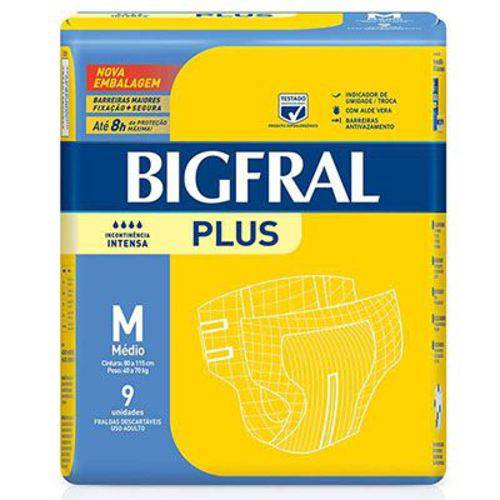 Fralda Bigfral Geriátrica Plus Tamanho M / 9 Unidades