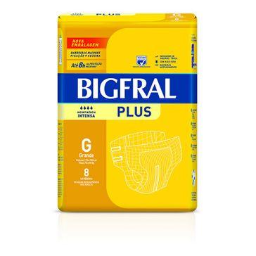 Fralda Bigfral Plus G 8 Unidades