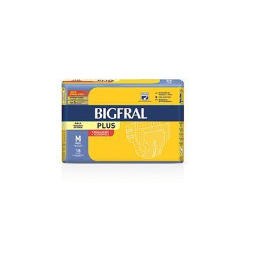 Fralda Bigfral Plus Prática M 18 Unidades