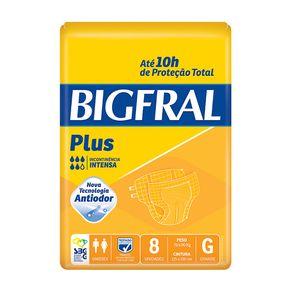 Fralda Descartável Adulto Big Fral G com 8 Und (Cod. 7996)