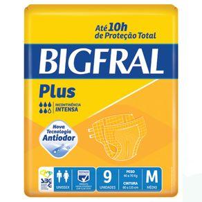Fralda Descartável Adulto Big Fral M com 9 Und. (Cod. 7995)