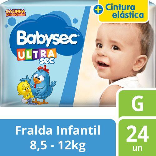 Fralda Descartável Babysec Ultra Jumbo G 24 Unidades