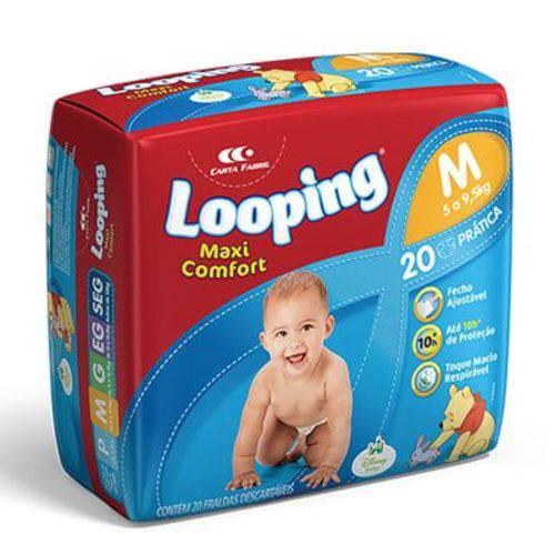 Fralda Descartável Looping Disney Maxi Fort Prática Média 20 Unidades