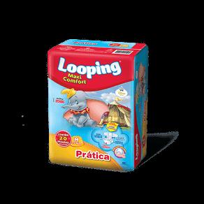 Fralda Descartável Looping Maxi Comfort M C/ 20 Unidades