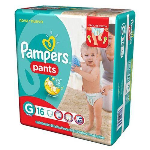 Fralda Descartável Pampers Pants G com 16 Unidades