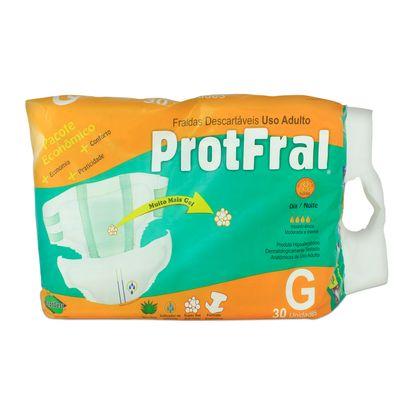 Fralda Descartável Protfral G com 30 Un