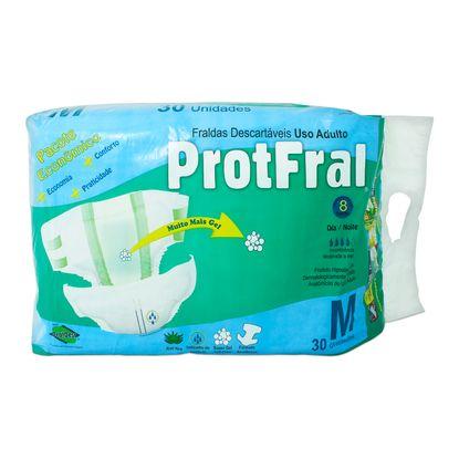 Fralda Descartável Protfral M com 30 Un