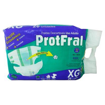Fralda Descartável Protfral XG com 26 Un