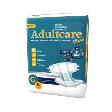 Fralda Geriátrica Adultcare G 8 Unidades