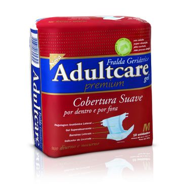 Fralda Geriátrica Adultcare Premium M 10 Unidades