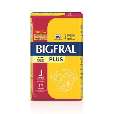 Fralda Geriátrica Bigfral Plus Compacta Juvenil C/ 11 Unidades