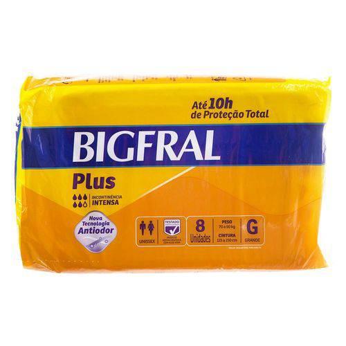 Fralda Geriátrica Bigfral Plus G 8un