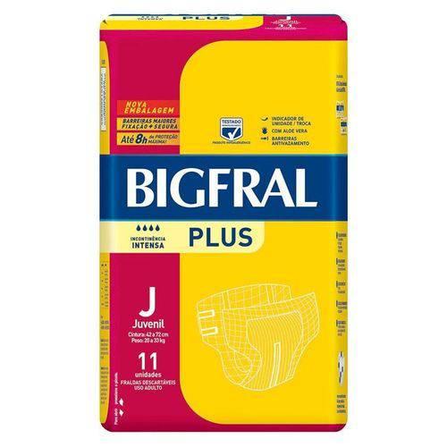 Fralda Geriátrica Bigfral Plus Juvenil 11 Unidades