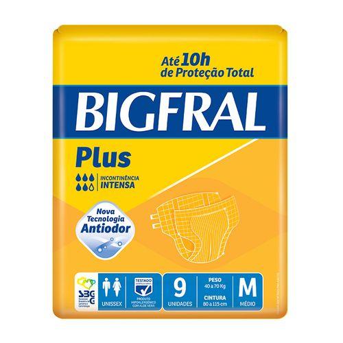 Fralda Geriátrica Bigfral Plus Média 9 Unidades
