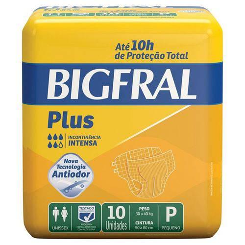 Fralda Geriátrica Bigfral Plus P Pct C/ 10 Unidades