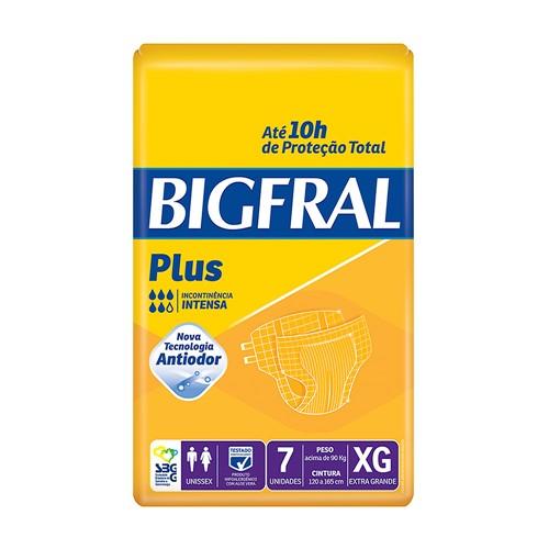 Fralda Geriátrica Bigfral Plus Tamanho EG com 7 Unidades