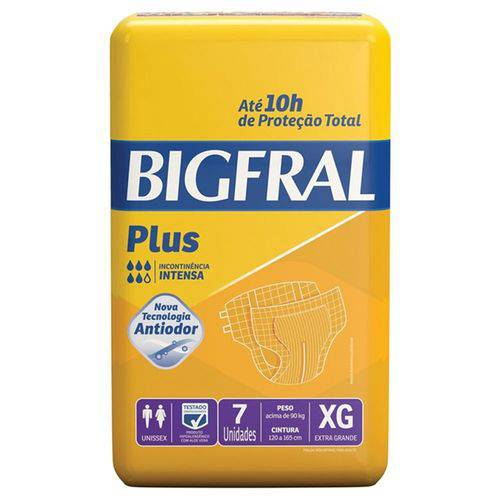 Fralda Geriátrica Bigfral Plus Xg Pct C/ 7 Unidades