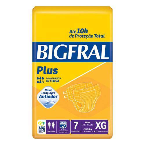 Fralda Geriátrica Bigfral - Tamanho Xg - 07 Unidades