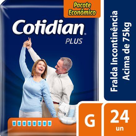Fralda Geriátrica Cotidian Plus G 24 Unidades