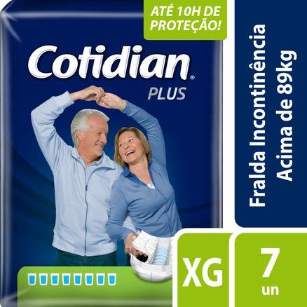 Fralda Geriátrica Cotidian Plus XG 7 Unidades